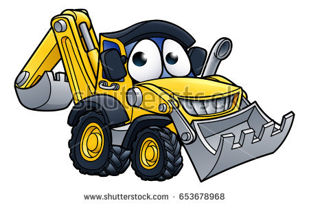 stock-vector-bulldozer-digger-construction-vehicle-cartoon-character-mascot-illustration-653678968